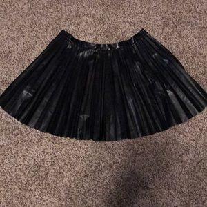 Victoria's Secret Pleather Skater Skirt